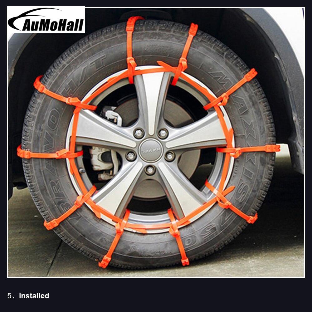 Anti-Skid Snow Chains 10 Pcs Winter Driving Car Truck SUV Wheel Chain Non-slipping Emergency Tool