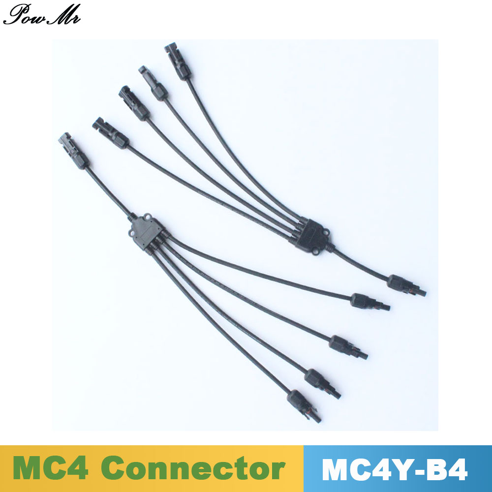 5 Pairs Y Type 4 in 1 Male and Female Solar Cable Connector IP67 MC4 M/M/F and F/F/M For Solar Panels Cable 4mm2 /6mm2 PowMr mc4 male female f m set in line fuse cable connector 3 10a use for solar panel