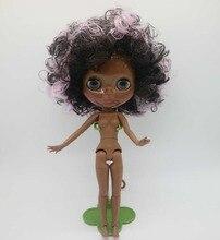 Nudo Blyth Doll comune del corpo Misto di capelli super nero di modo della pelle di fabbrica di bambole bambola 20181129