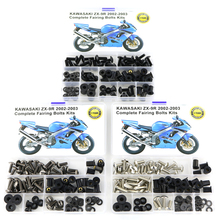 For Kawasaki ZX-9R ZX 9R 2002 2003 Motorcycle Accessories Full Fairing Bolts Kits Screws OEM Style Washer Nuts Fastener Steel motorcycle 154 pcs stainless steel full fastener bolts screws assortment kit for kawasaki kx kxf 125 250 450 2003 2004 2005 2018