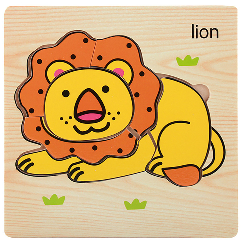 Wooden Lovely Puzzle Educational Developmental Baby Kids Training Toy Gift
