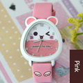 Children Quartz Clock Cartoon Watch Environmentally Friendly Gift PU Chain Bag Waterproof Watch Lovely Style Animal Pattern Dial
