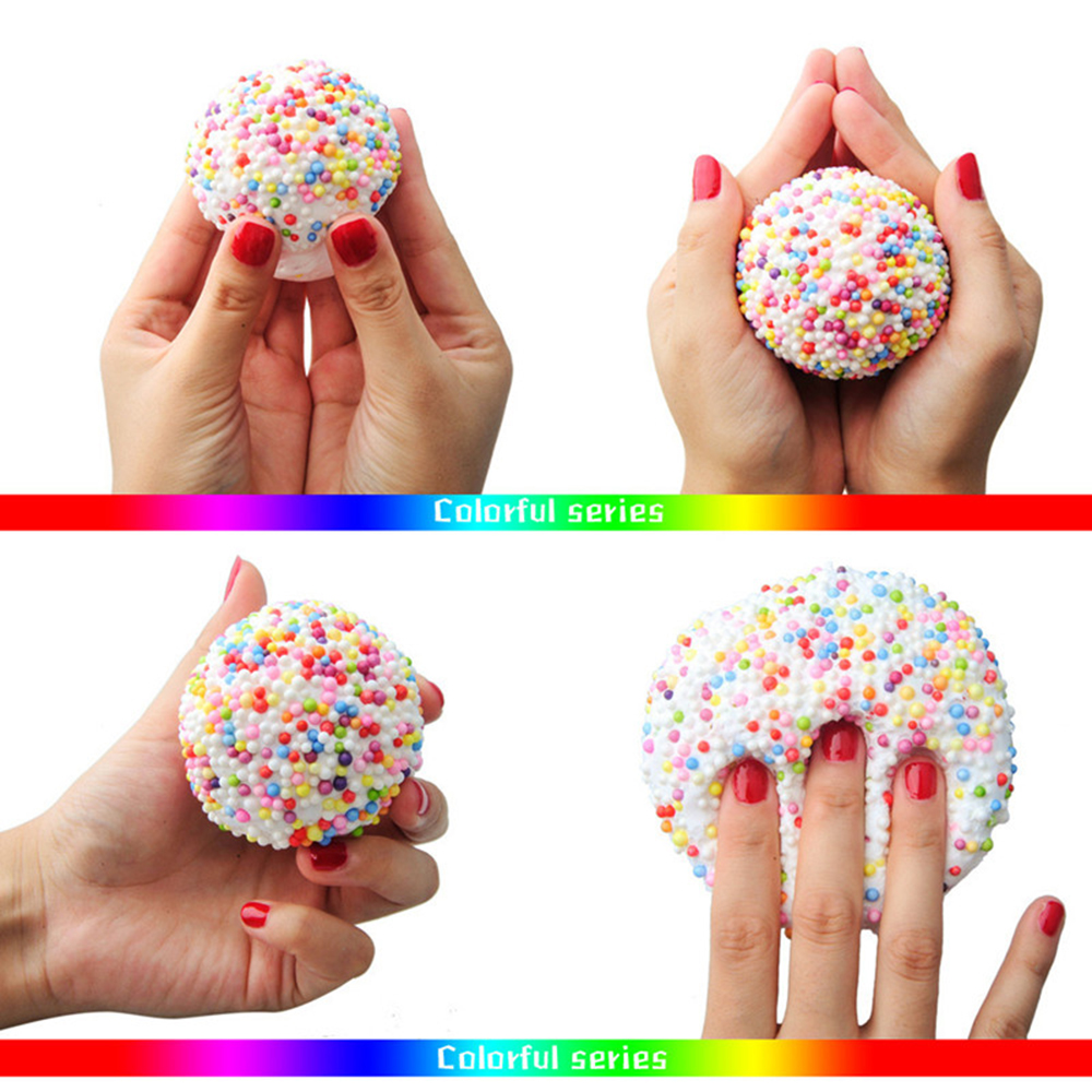 Colorful Fluffy Floam Slime Foam Beads Supplies Antistress Cotton Clay Magic Sand Toy Intelligent Plasticine For Kids