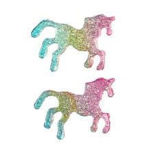 Colorful Glittering Unicorn Earrings