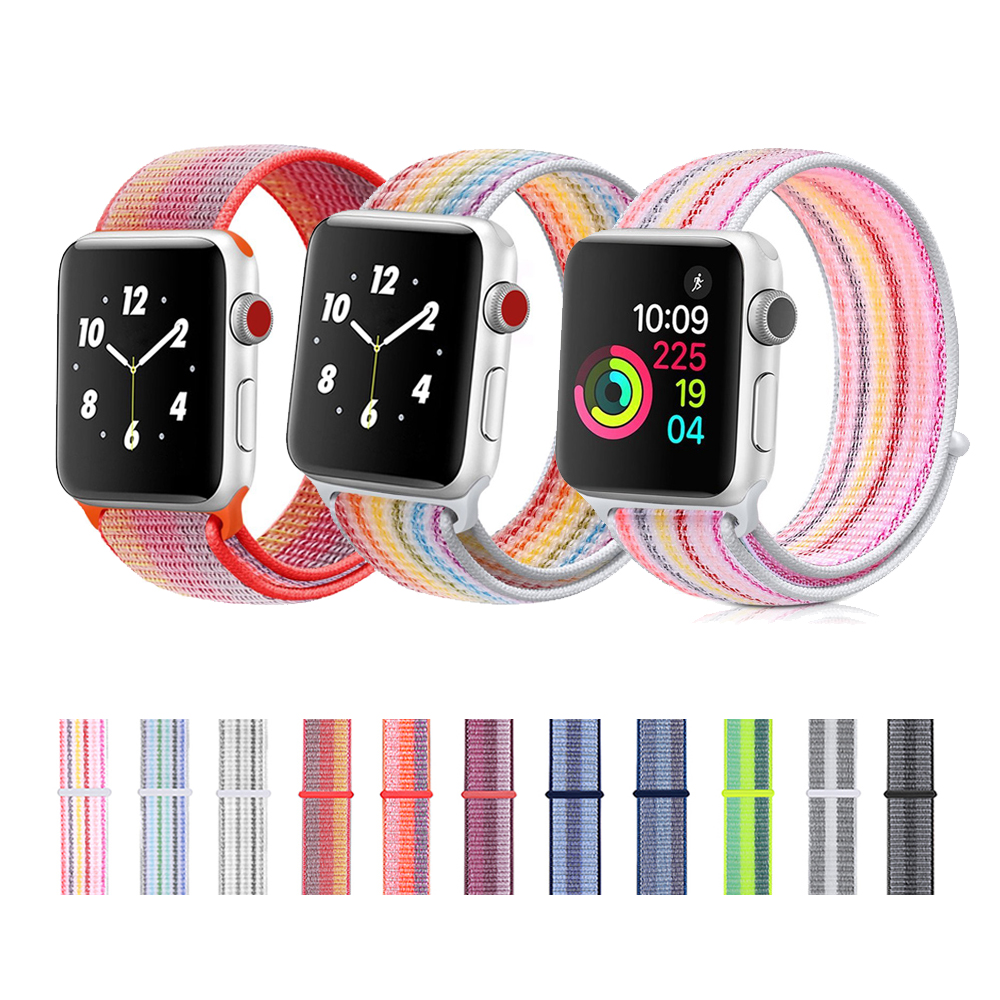 CRESTED for Apple Watch band Strap 42mm 38mm Sport Loop Nylon Woven Bracelet Wrist watchband Belt for Iwatch series 3/2/1 crested woven nylon strap for apple watch band 42mm 38mm leather iwatch series 3 2 1 wrist bands bracelet watchband belt 2018