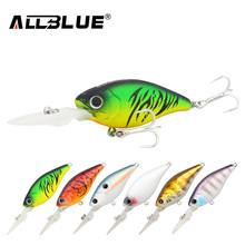 ALLBLUE Suspending Deep Diving Crankbait Fishing Lures 8.2g/50mm Lifelike Wobblers With 8# Owner Hooks peche isca artificial