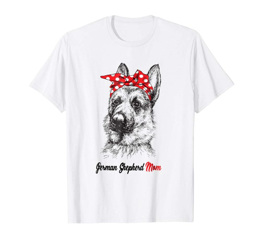 2019 New Arrival Men'S Fashion GSD Mom Bandana Dog German Shepherd Mom Men T-shirt Gift