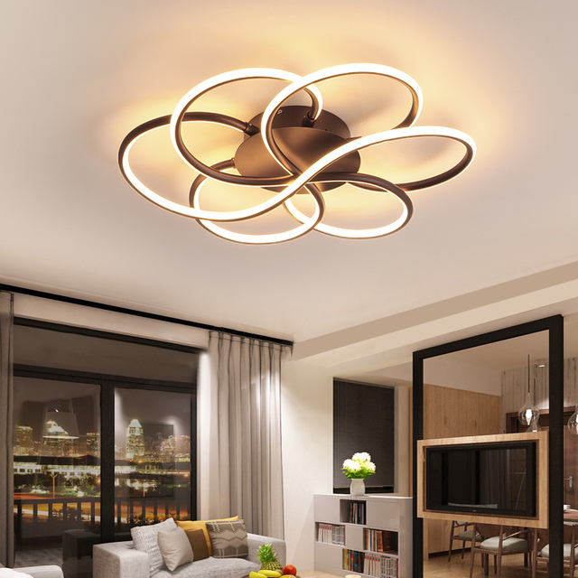 New Arrival Surface Mounted Modern Led Ceiling Lights For Living Study Room Bedroom Dimmable 110 220V Ceiling Lamp Fixtures