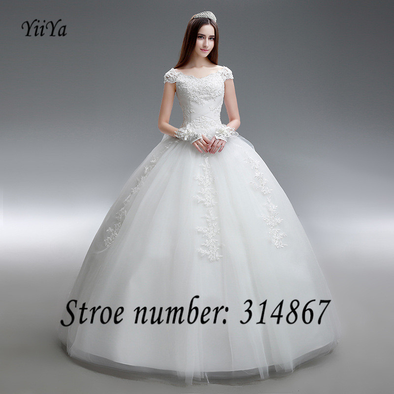Free Shipping Fashion Wedding Dresses Frocks Boat Neck Vestidos De Novia Brial Gowns Dress DL015 In From Weddings Events