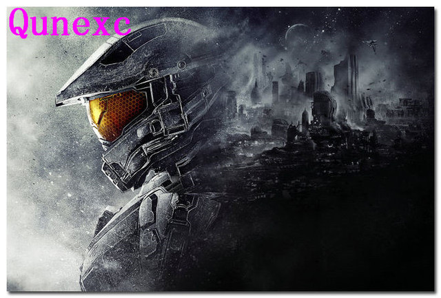 US $13 99 |Qunexc Halo 4 5 Master Chief Game Art Silk Poster 24x36 inches  GUARDIANS-in Wall Stickers from Home & Garden on Aliexpress com | Alibaba