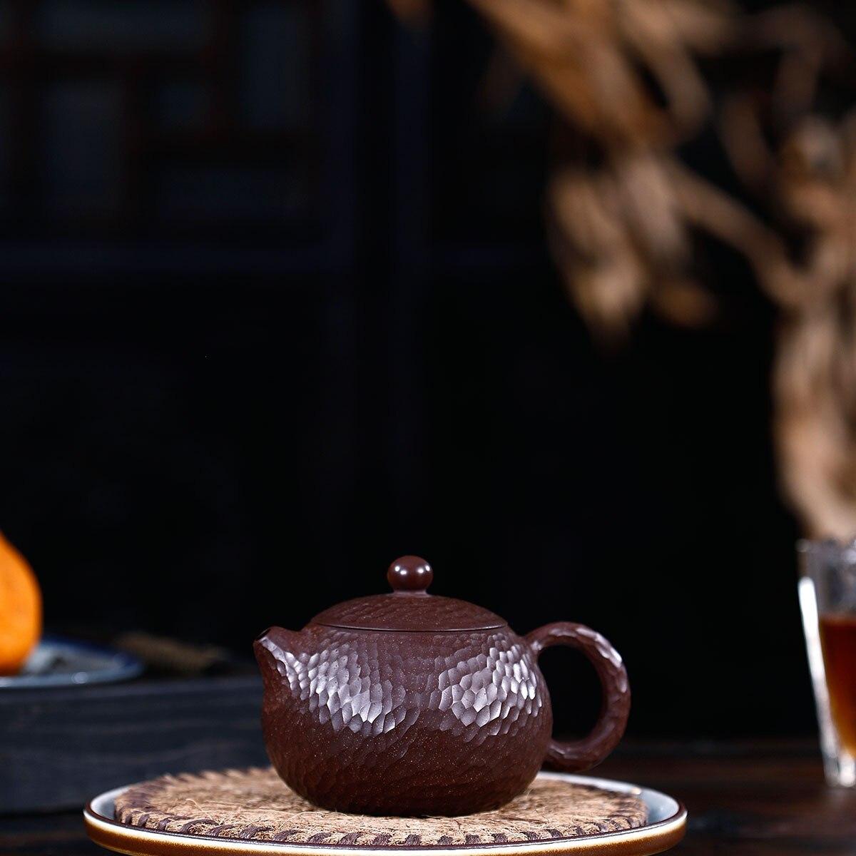 Modèle manuel de marteau de minerai brut de boue pourpre et rouge Xi Shi bouilloire Kungfu théière en ligne ensemble de thé Infusion domestique de costume de thé