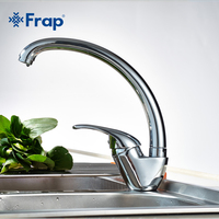 360 Degree Rotation Kitchen Faucet Single Handle For Kitchen Sink Mixer Tap Chrome Finish F4103