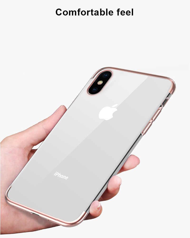 Claro y suave funda de silicona para iPhone XR XS MAX X 10 8 7 6 s 6 Plus 6 s más carcasa trasera para teléfono móvil 6 sPlus 7 Plus 8 Plus