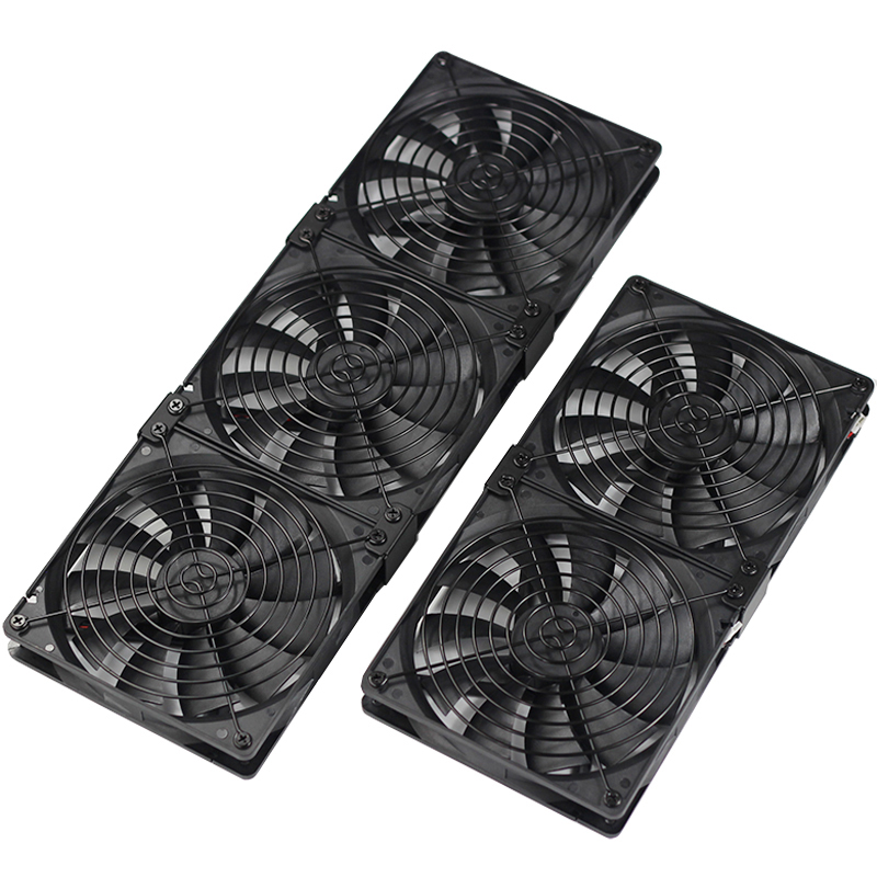 140mm 14025 3pin DC 12V  Silent Cooling Fan Combination For PC Cooler And Cryptocurrency Mining Ethereum /ETH / ETC / ZCash