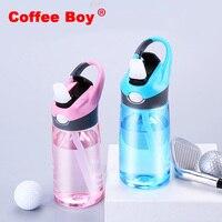 Caffè Boy 2018 Nuovo 400 ml e 600 ml Tipo di Paglia di Plastica bottiglia di acqua di Sport