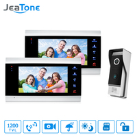 JeaTone Video Door Phone Intercom System 7 HD TFT Metal Panel Monitor 1200TVL IR Doorbell Camera