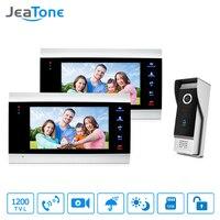 JeaTone Video Door Phone Intercom System 7 HD TFT Metal Panel Monitor 1200TVL IR Doorbell Camera