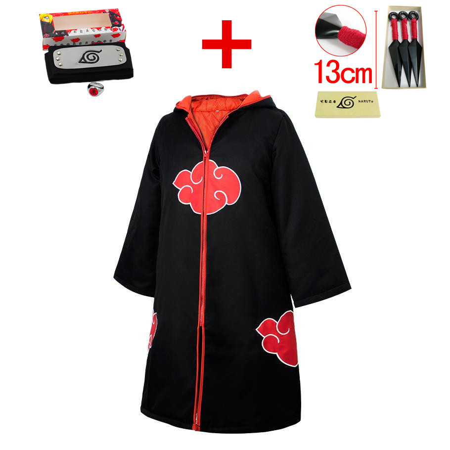 Anime Naruto Taka/Hebi Hawk/Snake Cosplay Costume Cloak Uchiha Sasuke Akatsuki Hoodies Thicken Cotton Sweatshirts Coat Suits