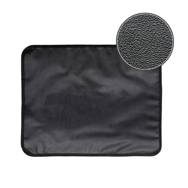 Urijk Black Gray Cat Litter Mat Eva Double-layer Cat Litter Trapper Mats Waterproof Bottom Layer Black Cat Bed Cat Supplies Mats #3