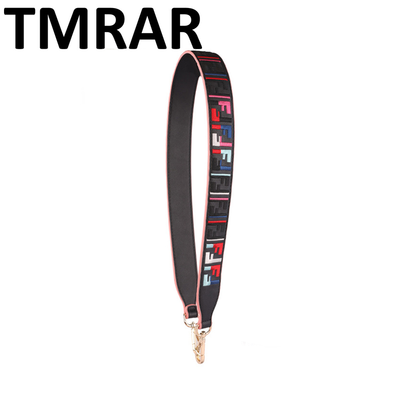 2018 Fashion embroidery pu leather strap simple bag straps hot and chic bag necessary women shoulder belts easy matching qn427-2