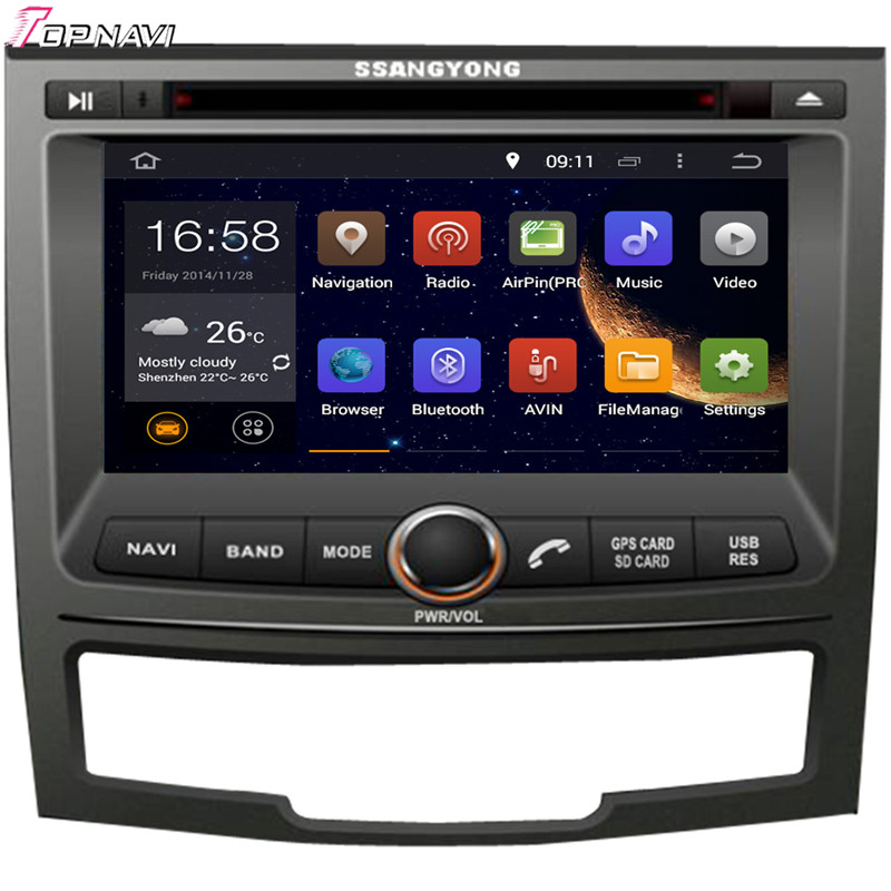 Topnavi 7'' Quad Core Android 6.0 Car DVD Play for SSANGYONG KORANDO 2010- Autoradio GPS Navigation Audio Stereo image