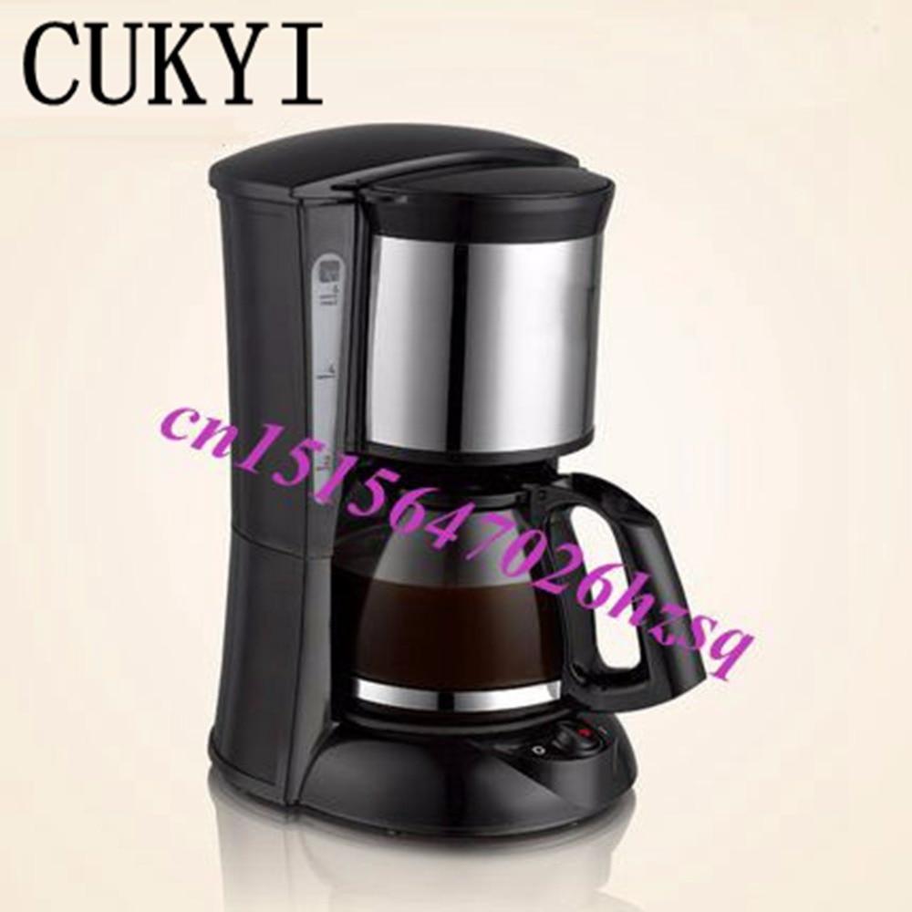 CUKYI CM-323 household automatic drip coffee machine American coffee machine coffee maker tea machine 600W 220V все цены
