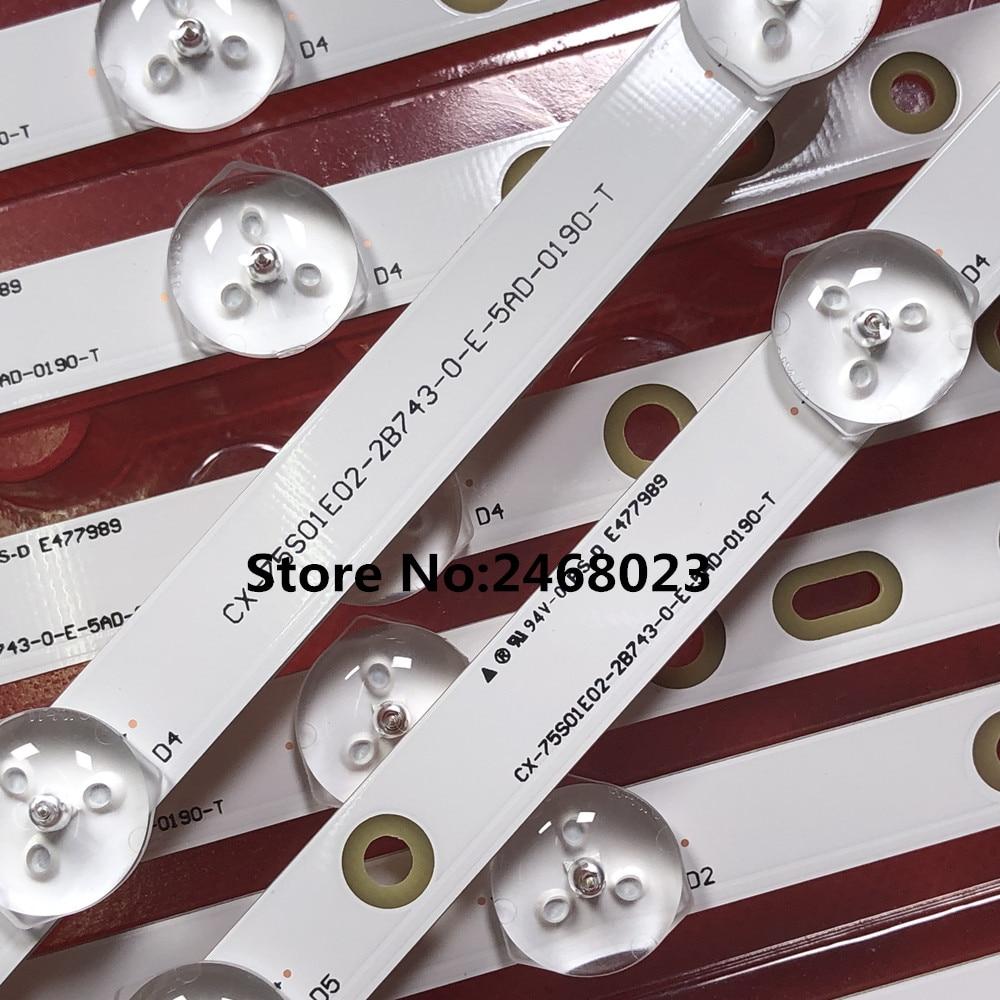 "Sony 75"" KDL 75W850C LED Backlight strip 750TV07 V1 CX 75S01E02 2B753 0 E 59K 4638 T 5+8led  1set=20pcs-in LED Bar Lights from Lights & Lighting    1"