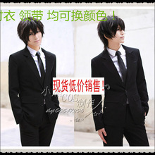 High Quality Anime PSYCHO-PASS Cartoon COS Constume Universal Black Suit for Men Adult Free Shipping Coat+Shirt+Pants+Tie
