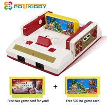 POWKIDDY Chaude Vidéo Jeu Console À TV Avec Sans Fil Gamepad Contrôleur HD TV Out Pour 8bit Famille TV jeu avec livraison jeu carte