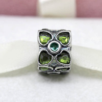PS334 hot sale  original green hot heart charms beads Fits European Style Bracelet / Necklace,wholesale jewelry