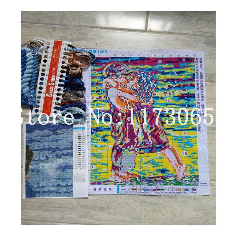 Robótki, DIY DMC Cross stitch, Zestawy do zestawy do haftu, - Sztuka, rękodzieło i szycie - Zdjęcie 4