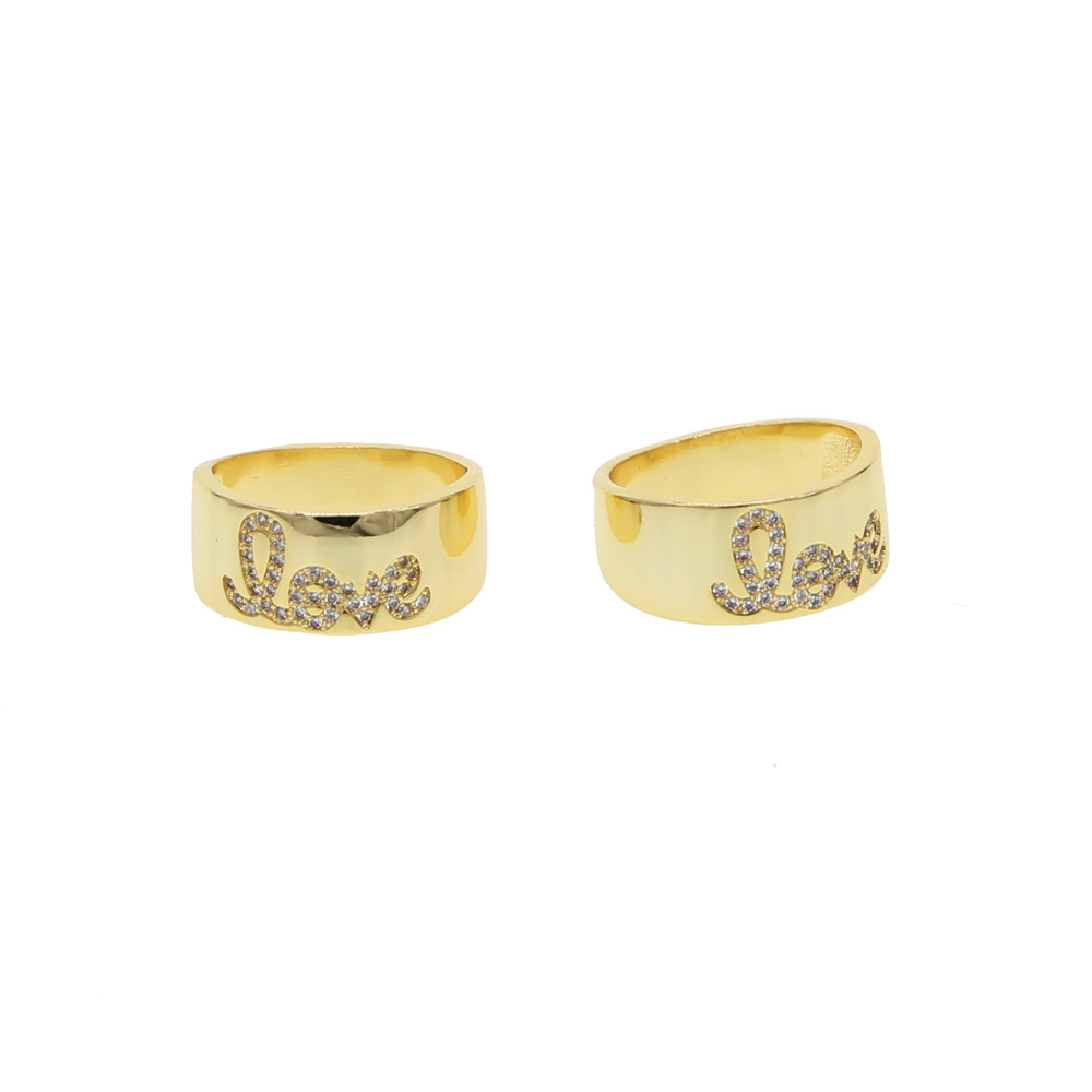 Wedding Love Ring For Women/Men Gold Color 2019 valentines gift New arrived trendy jewelry