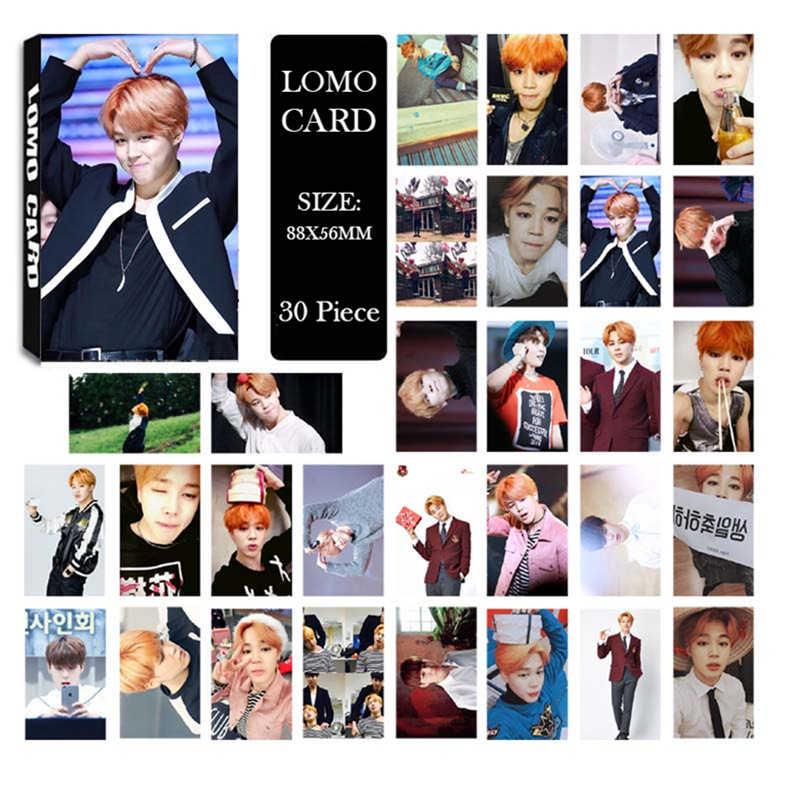 KPOP Bangtan Boys альбом JIMIN LOMO карты k-pop Новая мода самодельная бумага фото карта HD Фотокарта