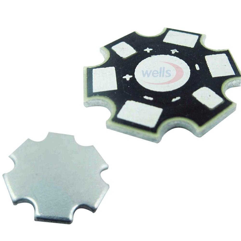 Free P/&P UK 5 Pack LED Heat Sink Base Plate 20mm Black // Silver 1W-3W