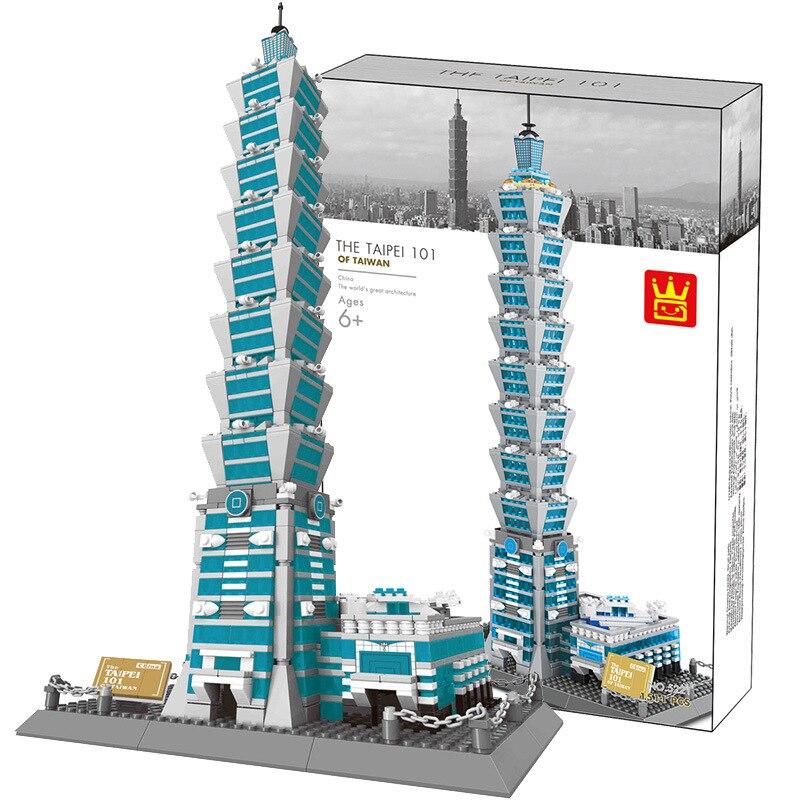 Miniature moderne bâtiments de renommée mondiale modèle blocs empilables Taj Mahal tour Eiffel Arc de Triomphe modèle de bureau briques jouets - 6