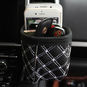 Image 3 - Car Outlet Air Vent Clip Trash Box Phone Holder Organizer Auto Sun Glasses Holder Storage Box for BMW Car Accessories Styling