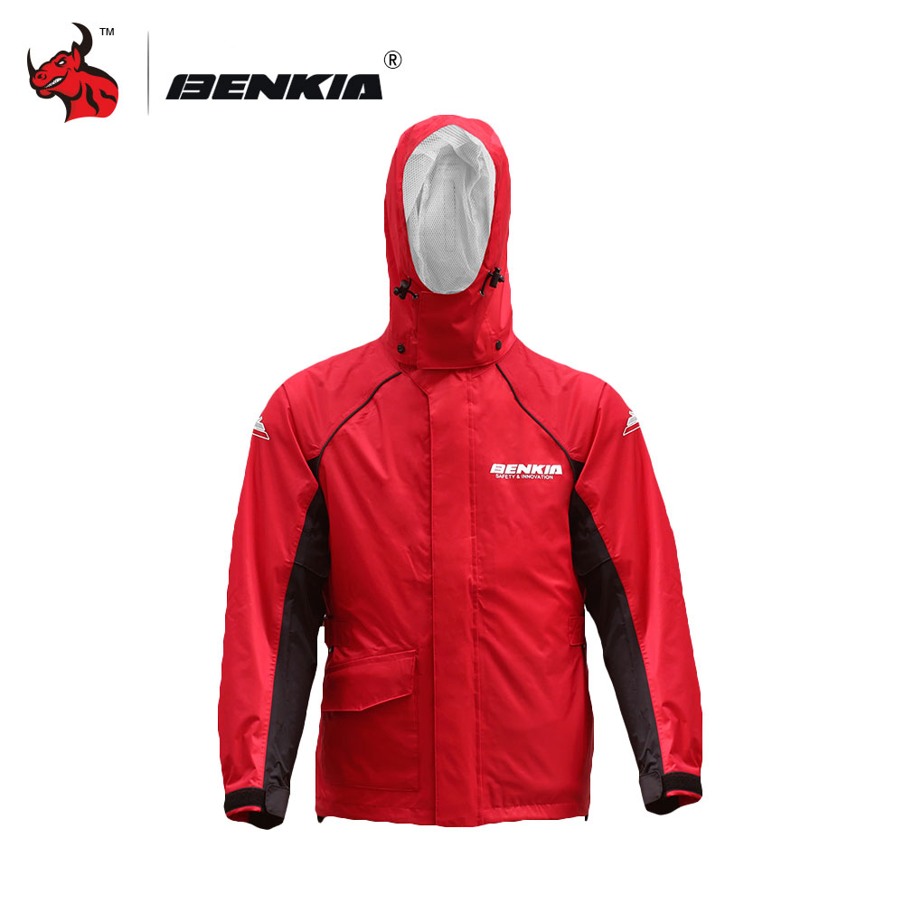 BENKIA Motorcycle Rain Coat Two-piece Raincoat Suit Riding Rain Gear Outdoor Men Women Camping Fishing Rain Gear Poncho  pole m 21 motorcycle cycling raincoat rain pants suit for women pink grey size l