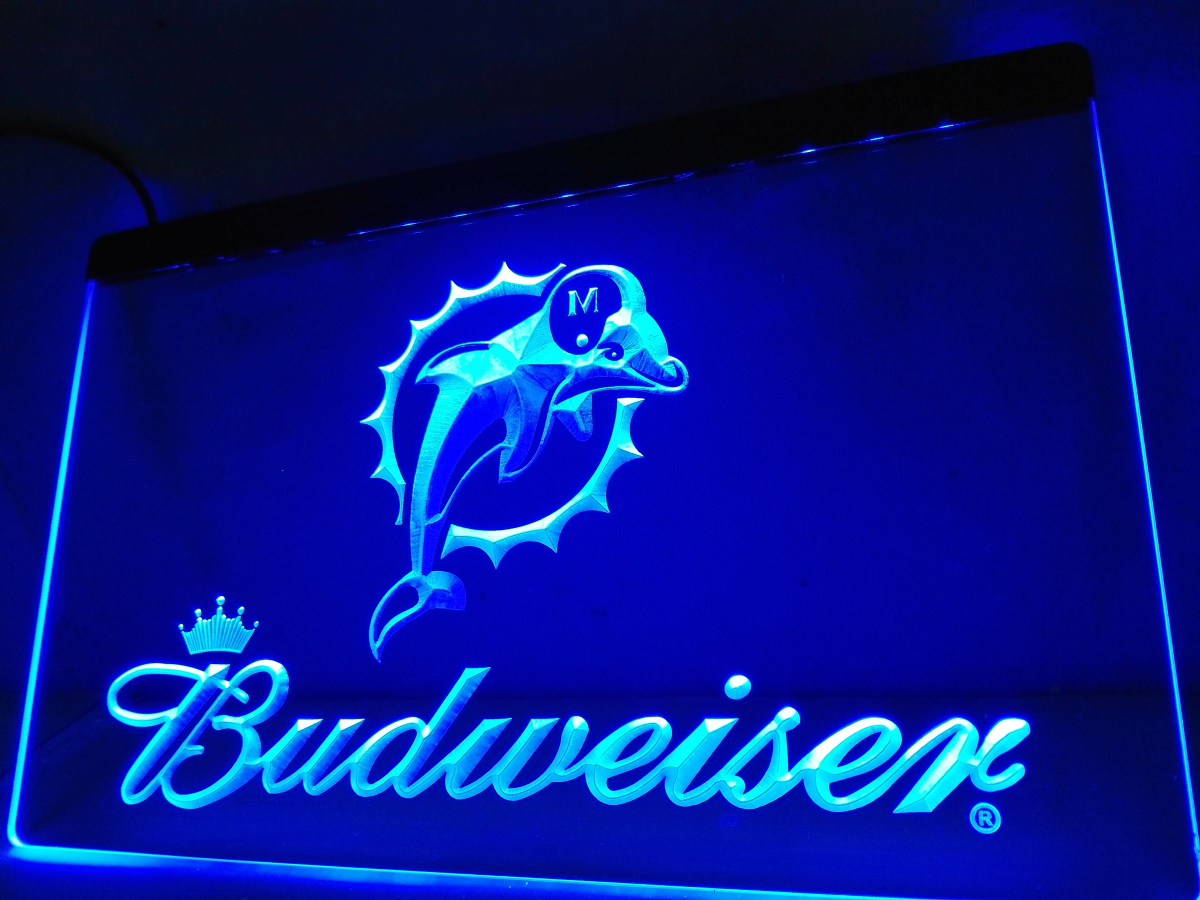 modern lighting miami. ld297 miami dolphins budweiser bar led neon light sign modern lighting t