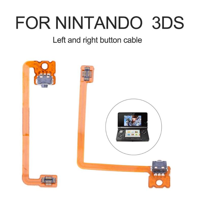 2pcs Shoulder Switch Trigger Button Ribbon Flex Cable Fit For Nintando 3DS XL LL 3DSLL R Arrangement Of Left Right Buttons