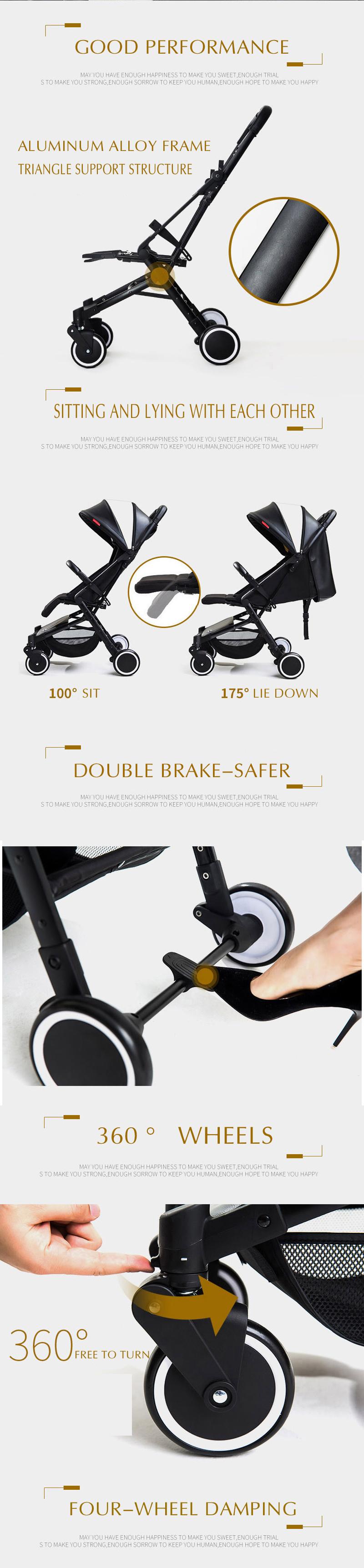 Teknum wózka dziecięcego ultralekki można jeździć może być leżącego przenośny parasol składany mini cztery okrągłe wózek dla dzieci 4