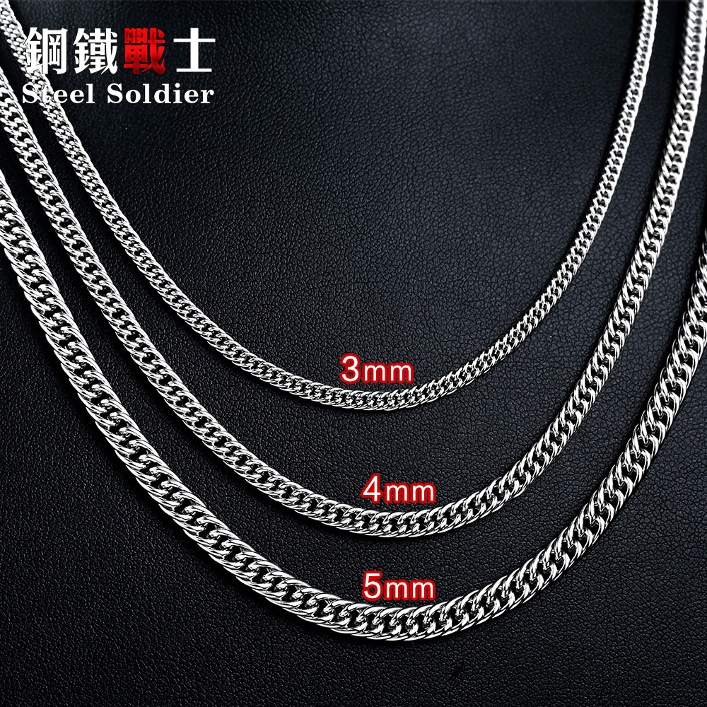 steel soldier Chain Stainless Steel Man's Jewelry