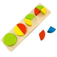 Simingyou 2016 Geometric Shapes Montessori Educational Wooden Toys Children Building Blocks Educational Toys WCN13
