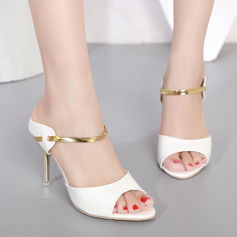 где купить LAKESHI High Heels Sandals Women Ankle-Wrap Women Sandals Beautiful Ladies Sandals Summer Shoes по лучшей цене