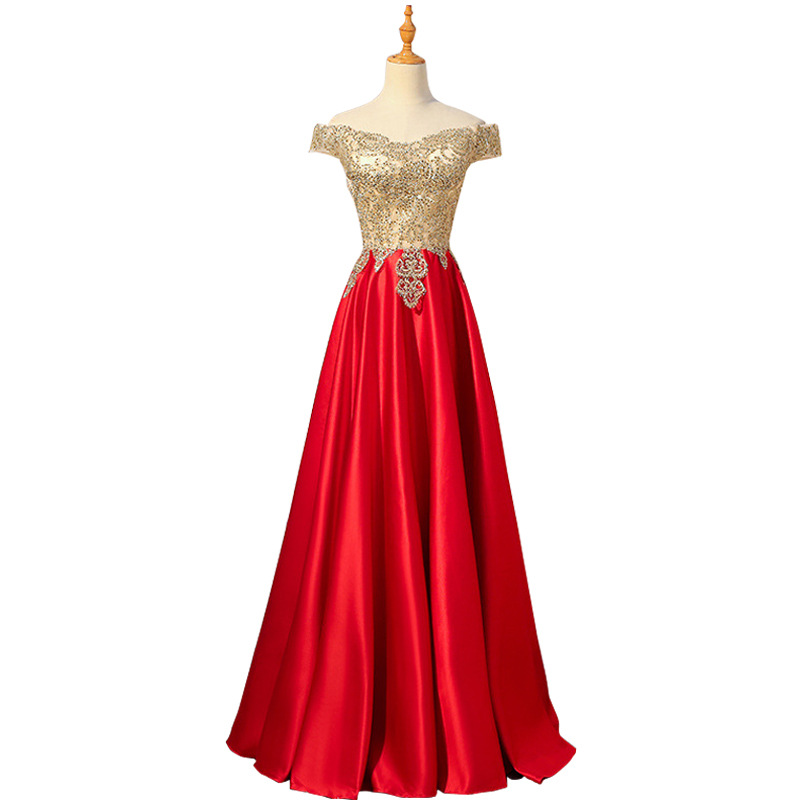 A line Long   Evening     Dress   2018 New Fashion Appliques Sequined Party   Dress   Sexy Illusion V-neck robe de soiree Haute Couture