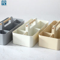 Table Living Room Desktop Remote Control Storage Box Simple Plastic Wall Hanging Dressing Cosmetic Holder Small Object Container