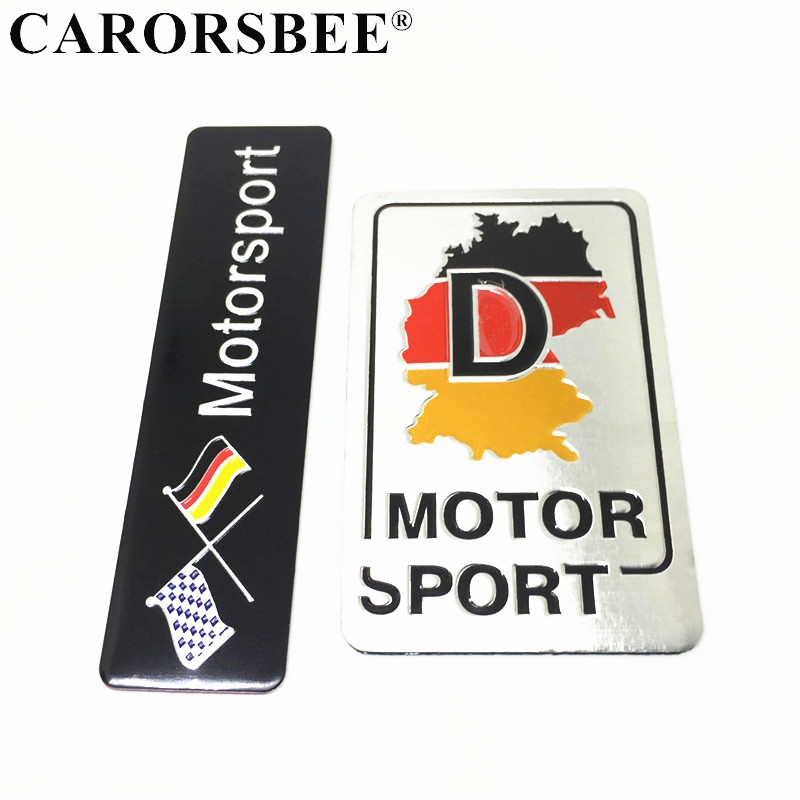 Germany Race Flag Sticker DIY Aluminum Auto Brand Emblem Badge Decal Car 3D Logo