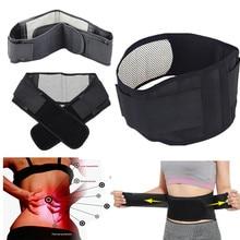 Adjustable Tourmaline Self-heating Magnetic Therapy Waist Belt Lumbar Support