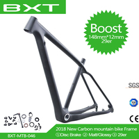 Free shipping 29er T800 Full Carbon Mountain Bike frame 148*12mm MTB BOOST carbon bicycle frame Bicycle parts BSA