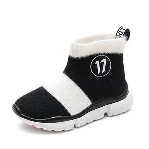 Image 5 - أحذية أطفال طويلة الرقبة الثلوج الفتيات طفل أحذية الأطفال أحذية للبنات طفل أحذية مضادة للماء شتاء دافئ القطن جورب الأحذية ل Girs شقة