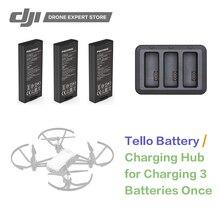 DJI Райз Тельо батарей полета/Тельо Батарея зарядки хаб оригинальный Радиоуправляемый Дрон аксессуары